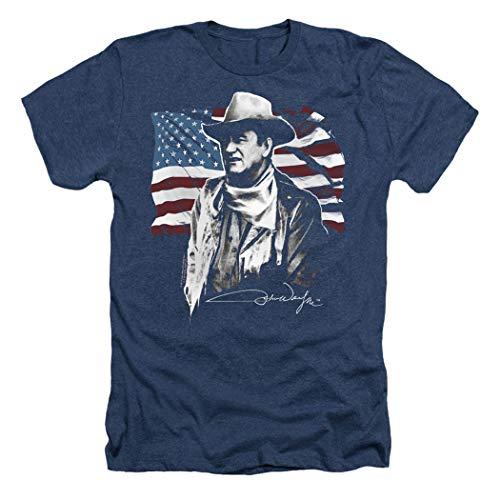 John Wayne American Icon T Shirt & Stickers (Small) Navy