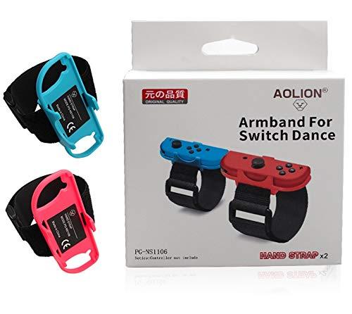 MeterMall CE 1 Paar Verstelbare Game Armband Elastische Band voor Nintendo Switch Joy-Con Controller Wrist Dance Band