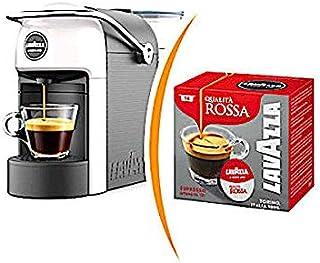 Máquina de café Lavazza a modo Mio Julie blanca + 36 cápsulas calidad roja: Amazon.es: Hogar