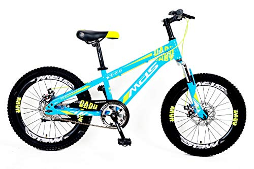 MDS UNLIMITED CYCLES-K8 Daredevil 20 Inch Cycle Fat Tyre No Gear Kids MTB Both Boys and Girls Age 5-11 Years Height 3.3 to 4.3 feet Sky Blue Colour