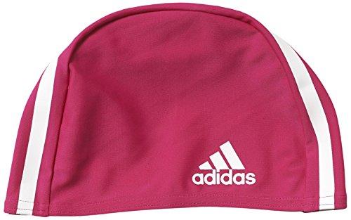adidas M66935 Bonnet de Bain Mixte Adulte, Bold Pink/White, FR Fabricant : Taille Unique