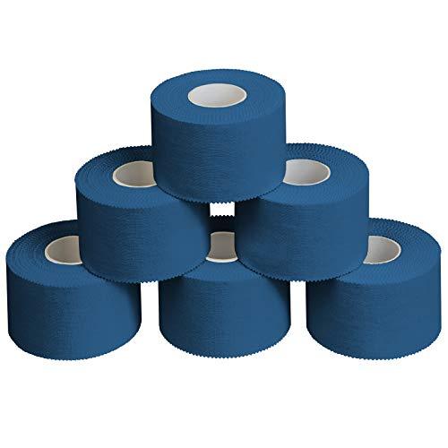 ALPIDEX 6 x Cinta Adhesiva Deportiva 3,8 cm x 10 m, Color:Azul