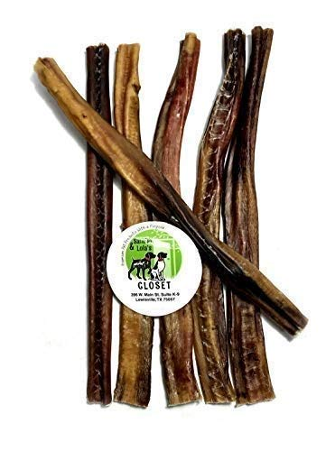 Sancho & Lola's 12-Inch Standard 6-Count Odor-Free Bully Sticks for Dogs Made in USA/Sourced in USA/Human-Grade/Chef-Prepared/Rawhide-Free Beef Pizzle Dog Chews