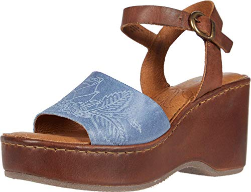 BORN Women's, Moapa Sandal Blue Brown 10 M