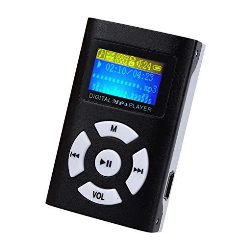 rongweiwang USB portátil de MP3 en Formato MP3 de Reproductor de música MP3 Música Ayuda SD/TF Tarjeta Gran Pantalla de MP3