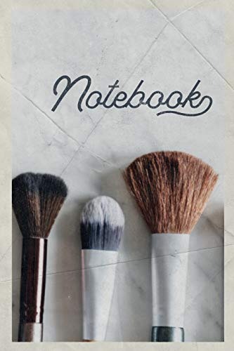 Notebook: Makeup Brush Set Stylish Composition Book Journal Diary for Men, Women, Teen & Kids Vintage Retro Design Beauty Parlor Professionals