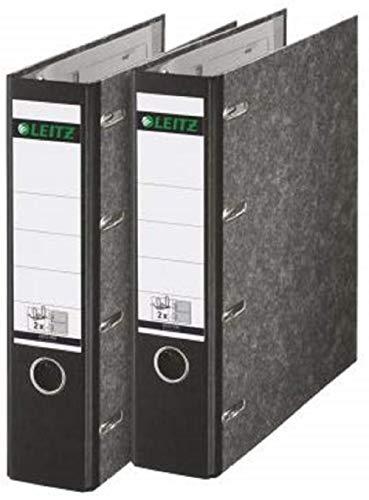 Leitz 310320000 Standard Doppelordner mit Schlitzen 2 x A5 quer, 2 Stück, schwarz