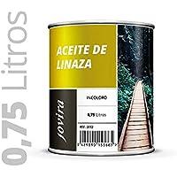 ACEITE DE LINAZA BARNIZ NATURA (100% PURO) Nutrición, protección y cuidado de la madera. 750ML