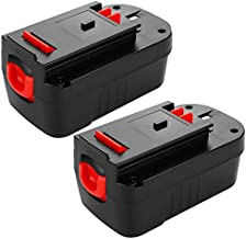 [Upgraded to 3600mAh] HPB18 Replacement for Black and Decker 18 Volt Battery Ni-Mh HPB18-OPE 244760-00 A1718 FS18FL FSB18 Firestorm Cordless Power Tools 2 Packs