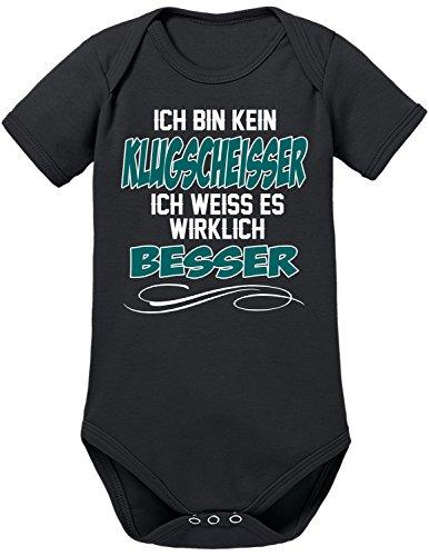 Touchlines Ich Bin kein Klugscheisser Body, Noir (Black), 6 Mois Mixte bébé