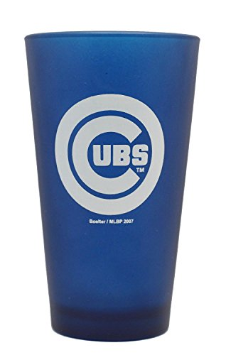Chicago Cubs MLB 16oz Royal Blue Glass Cup