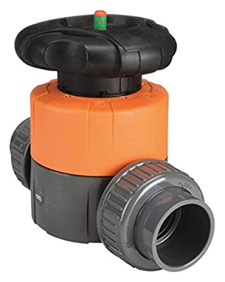 "George Fischer Type 314 PVC Manual Diaphragm Valve, 1-1/2"" from COLE-PARMER"