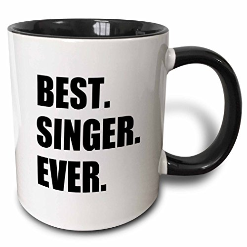3dRose Best Singer Ever Fun Gift For Singing Appreciation Black Text...
