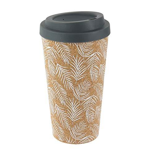 Pick and Drink Mug de Transport en liège Exotic - 450 ML - Gris