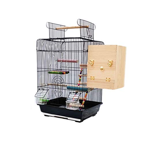 YINGZI Birdscage Bird Cage with Opening Top Large Parrot Bird Cage Cockatiel Sun Parakeet Green-Cheek Pet Products with Detachable Stand Make & Decorate (Size : Birdcage+breeding box)