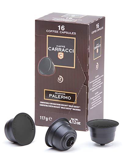 Caffè Carracci Capsule Compatibili Dolce Gusto, Palermo - 6 astucci da 16 capsule (totale 96 capsule)