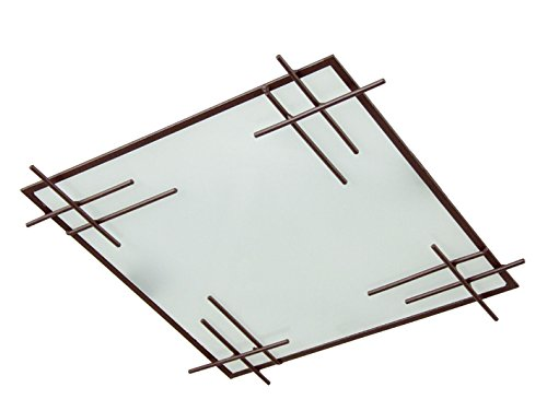 Tosel 40152 Deckenleuchte Tokyo, Stahl/Glas, 40 W, E27 braun