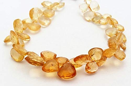 LOVEKUSH 50% Off Gemstone Jewellery Nice quality Natural CITRINE faceted Heart & triangle shaped beads,very beautiful gemstone, 7x7 mm to 8x9 mm approx,8