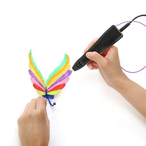 3D Printer Drawing Pen Free 5M Filament Set LCD Screen Gift (Black)