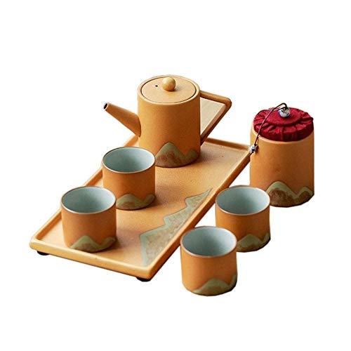 Juego de Tetera para Mesa de té, Juego de té Chino Hecho a Mano, Tetera de Porcelana, Juego de té de Kung Fu, Juego pequeño para el hogar