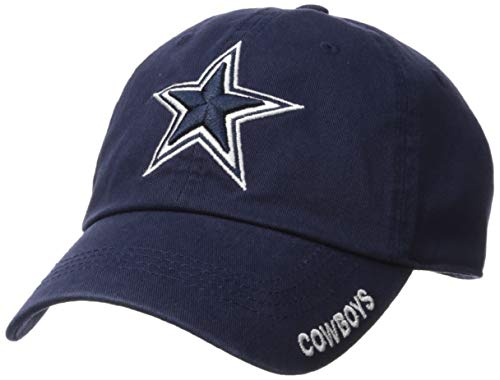 NFL Dallas Cowboys Mens Basic Slouch Cap, OSAFA, Navy