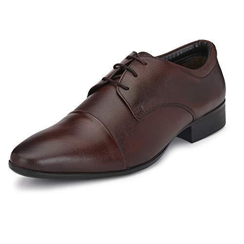 Burwood Men's Brown Leather Formal Shoes-8 UK (42 EU) (BW 187)