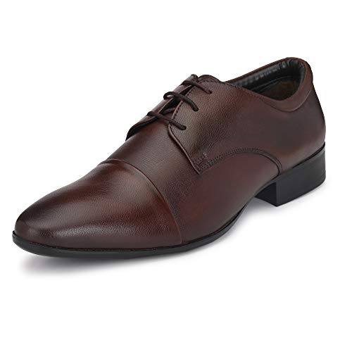 Burwood Men's Brown Leather Formal Shoes-8 UK (42 EU) (BW 187)