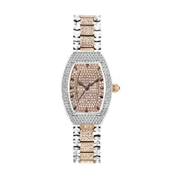 Diamond Crystal Quartz Movement Rhinestone Stainless Steel Watch