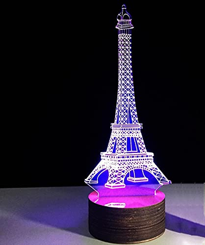 FUTYE Torre Eiffel lámpara de mesa linterna luces de Navidad al aire libre luz de la noche lámpara de escritorio regalo de Navidad