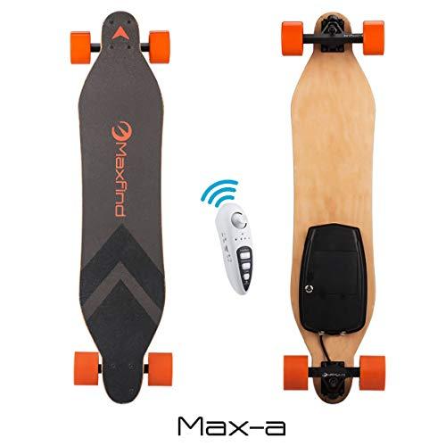 Maxfind Maxa Electric Skateboards 18.6 mph Hub Brush Motor 8 Miles Range 176 Lbs 7 Layers Maple...