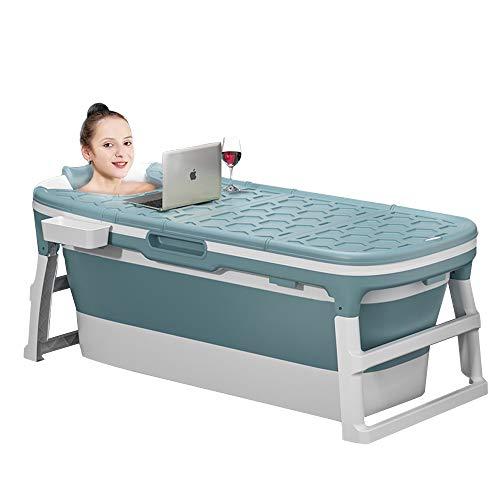 Zdorzi 54inch Portable Bathtub for Adults and Baby,Uniex Foldable Bathtub Simple Bath Tub Home SPA Bathtub,Easy to Store Plastic Bath Barrel Household Insulation