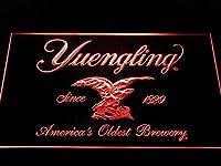 Yuengling Beer LED看板 ネオンサイン ライト 電飾 広告用標識 W60cm x H40cm レッド