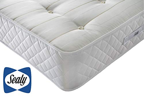 Sealy Backcare Memory Foam Mattress, Posturepedic Technology, Core Support Spring System, Medium Firm Feel, UK King