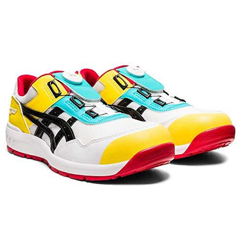 [限定色]安全靴 アシックス asics スニーカーウィンジョブ FCP209 Boa 24.5 104ホワイト×ブラック
