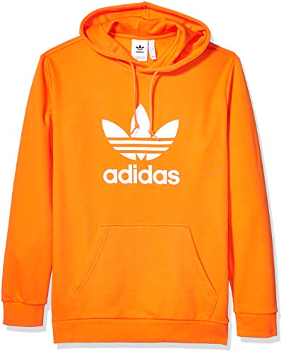 adidas Originals Men's Trefoil Hooded Sweatshirt, Orange, Large