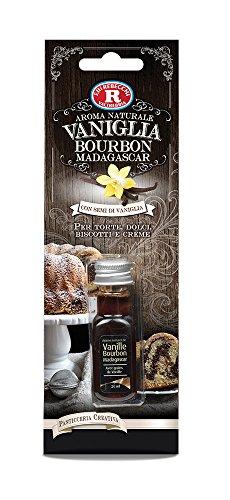 Rebecchi Vaniglia Naturale Aroma Bourbon con Grani Ml20 - Pacco da 7 X 20 Ml
