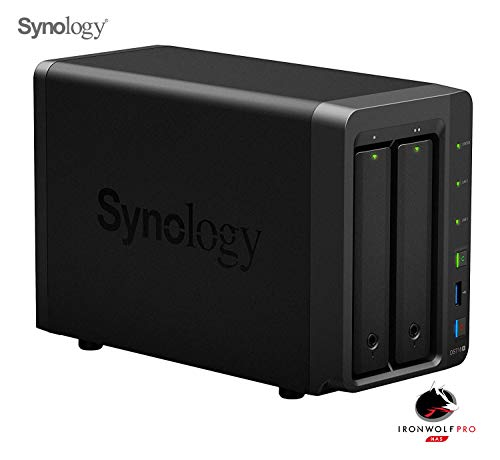 Synology - DS718+/6G/5Y/12T-IWPRO - Nas 12To (2X 6To) Ironwolf Pro