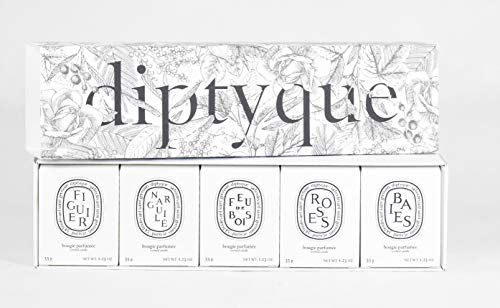 Diptyque Set of Five Scented Candles - Baies, Roses, Figuier, Fue De Bois, Narguile - Travel Size 2020 Fall Collection