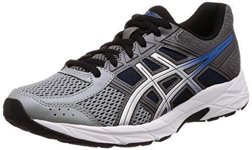 ASICS Men's Gel-Contend 4 Running Shoes, Black (Carbon/Silver 020), 6 UK
