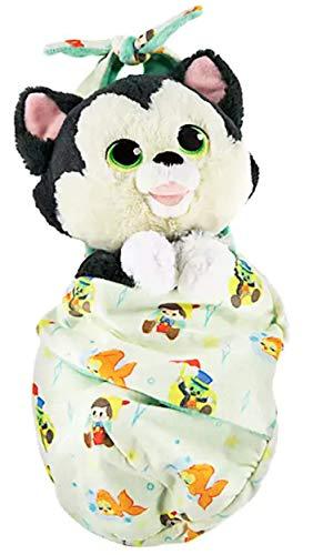 Disney Parks Cat Kitten Baby Figaro in a Pouch Blanket Plush Doll