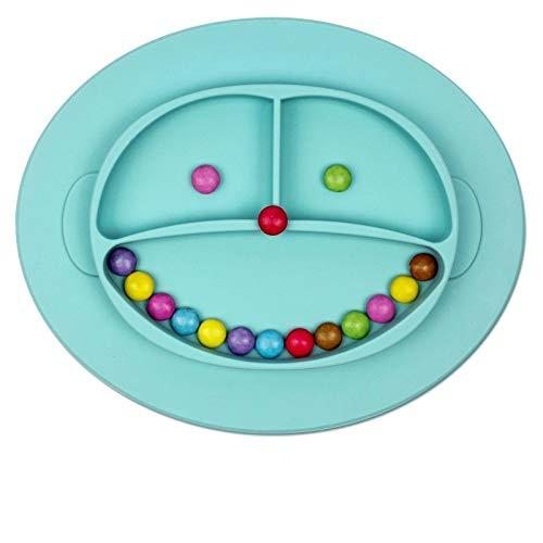 Babylovit BPA -freier und Rutschfester Kinderteller – geprüfter Breischale - Babyteller- Babygeschirr Teller für Baby und Kleinkinder Rutsch und Saugfest aus Silikon