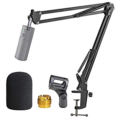 Razer Seiren X Mic Stand with Pop Filter - Mic Boom Arm with Foam Cover Windscreen for Razer Seiren X Streaming Microphone by YOUSHARES