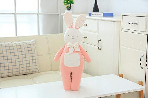 YZHCMKA-N Almohada de Dibujos Animados Muñeca Bebé Comodidad Juguete de Felpa Niños y niñas Almohada de Arte de Tela encantadora-45X22Cm_Bow_Tie_Rabbit