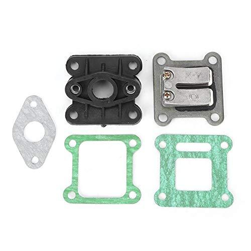 Vergaser Membranventil Verteiler Kit, Vergaser Reparatursatz Ersatzteile Reed Valve Carb Einlasskrümmerdichtungen für 47ccm 49ccm Pocket Bike Mini ATV/Dirt Bike