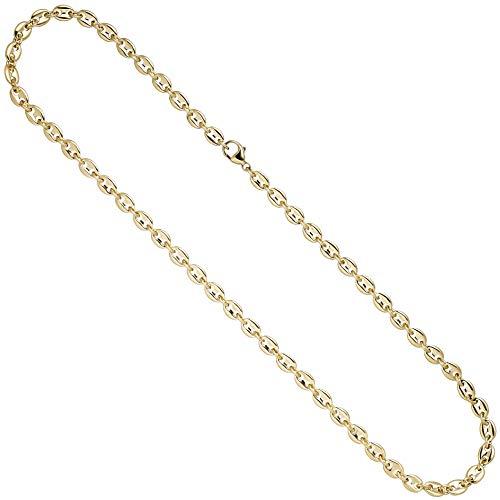 JOBO Damen Halskette Kaffeebohnen Kette 585 Gold Gelbgold 50 cm Goldkette