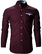 FINIVO Men's Cotton Regular Fit Casual Shirt
