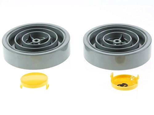 Lazer Electrics Dyson DC01Aspiradora Amarillo y Gris ruedas con tapa cubre X 2