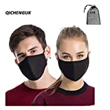 3PCS Dust Masks, Unisex Anti Pollen Allergens Mouth Muffle Reusable Cotton Gauze Mask with PM2.5 Activated Carbon Filter Travel Outdoor Cycling Ski Warm Face Mask