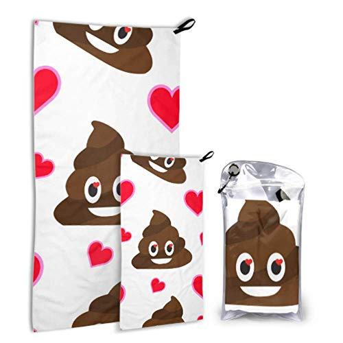 NA Cute Fun Popular Poo Express 2 Pack Microfibra Toalla de