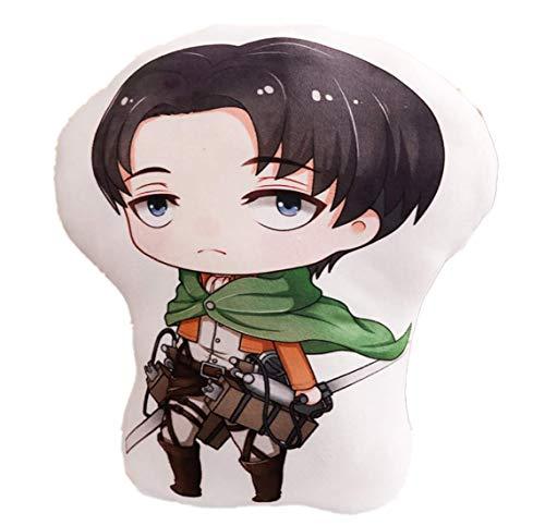 shaobeiq Attack on Titan Anime Levi Ackerman Plush Pillow Stuffed Cushion Doll Toy